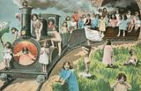 Train full of children