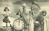 New Year's card with Father Time