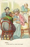 Women exchanging gossip