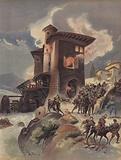Le partisan Montlue, s'empare des Moulins d'Auriol et massacre la garnison imperiale
