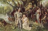 Scene from Richard Wagner's opera, 'Lohengrin'