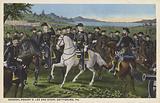 General Robert Lee and his staff, Gettysburg, PA