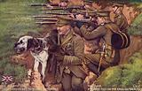 Guard dog in the British trenches