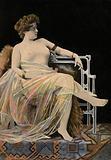 Girl in classical dress