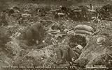 Soldiers sleeping in shell craters