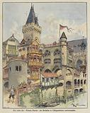 A corner of Robida's Old Paris at the Exposition Universelle