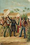 The Catholic priest Miguel Hidalgo y Costilla issues the Grito de Dolores calling for Mexican independence, 15 September 1809