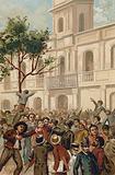 Uprising against President Juarez Celman of Argentina, Buenos Aires, 1890
