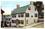 Old Common House, site of the first house built by the Pilgrim Fathers in 1621, Plymouth, Massachusetts