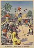 Fetish stilt dance in Dahomey