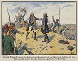 King Frederick William II of Prussia embracing his heroic son, Crown Prince Frederick William, on the hill of …