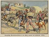 French soldiers robbing and plundering in the Palatinate, 1793