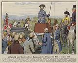 Queen Louise of Prussia at a parade on the parade ground at Stargard, May 1798