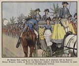 Queen Louise of Prussia reviewing her regiment of Dragoons, Berlin, 18 September 180