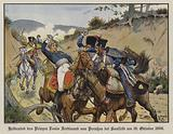 Heroic death of Prince Louis Ferdinand of Prussia at the Battle of Saalfeld, 10 October 1806