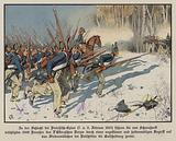 Prussian infantry attacking at the Battle of Eylau, 7-8 February 1807