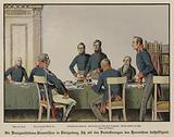 King Frederick William III attending a meeting of the Prussian Military Reorganisation Commission in Konigsberg