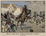 Death of Major von Schill in a street battle in Stralsund, 31 May 1809