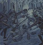 Sergeant Dubois and the Chevalier d'Assas at the Battle of Kloster Kampen, 1760
