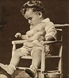 Charles Lindbergh Junior, son of the American aviator, kidnapped from his home and murdered by Bruno Richard Hauptmann in 1932