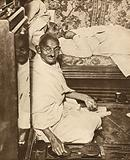Mahatma Gandhi, leader of movement for Indian independence from British rule