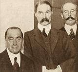Edward Carson and Andrew Bonar Law, British Unionist and Conservative politicians opposed to Irish Home Rule