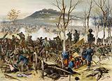 Battle of Mont Valerien, Franco-Prussian War, 19 January 1871