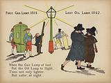 First gas lamp, 1814 - Last oil lamp, 1842