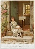 Sarah Shilton, Caterina's prototype, sitting singing on her mother's door-step at Coton, attracts the attention of …