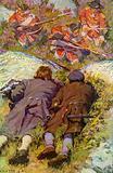 Scene from Kidnapped by Robert Louis Stevenson