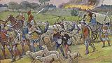 France was ravaged by the English and pillaged by bands of soldier brigands