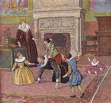 King Henry IV of France playing with his children