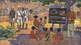 General Joseph Gallieni, French colonial Governor of Madagascar, overseeing the building of roads and the opening of …