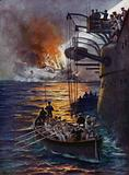 The sinking of the Leipzig
