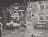 French painter Alfred Philippe Roll in his studio