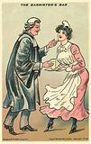 Barrister touching up a pretty maid