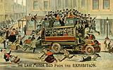 The last motor bus from the exhibition