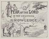 The Fear of the Lord is the Beginning of Knowledge, Proverbs 1, 7