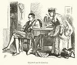 Oliver Goldsmith and his Landlady