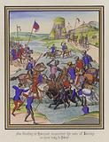 Sir Godfrey De Harcourt encounters the men of Amiens on their way to Paris