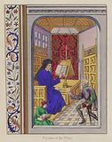Froissart in his study