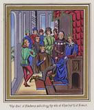 The Earl Of Flanders soliciting the aid of Charles VI Of France