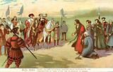Henry VIII and Catherine Howard being received by the Corporation of York after the Pilgrimage of Grace, 1541