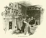 R M Ballantyne, writer, in his study