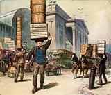Porters at Covent Garden Market, London