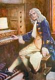 Handel, working out the Hallelujah Chorus