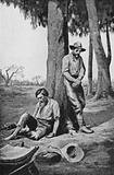 Australian explorers Burke and Wills on their homeward journey, having crossed the Continent