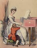 Marie Antoinette singing to the Dauphin, son of King Louis XVI
