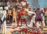The merchants of Calicut held as hostages