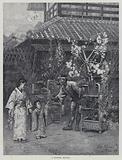 A flower seller